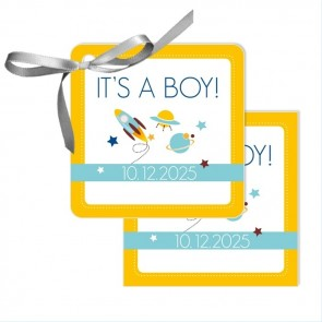 Space Baby Shower Favour Tags