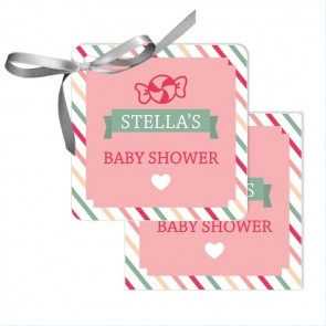 Sweet Candy Baby Shower Favour Tags