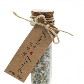 Herbal Gift Tubes Basic Label wedding favours