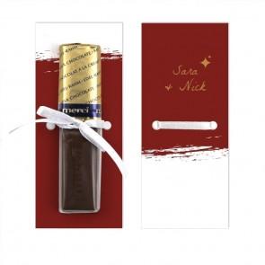 Bordeaux Paint Merci Wedding Chocolate Favour