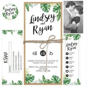 Botanical Bundle Wedding invitation