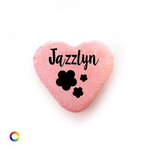 Flowers baby shower candy hearts