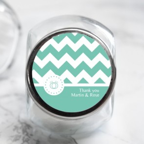 Pastel Chevron Candy Jar