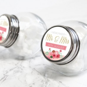 Pastel Flowers Candy Jar