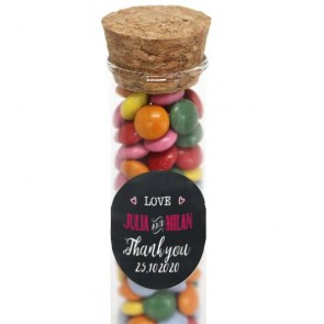 Chalk wedding tube wedding favour