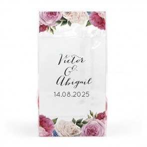 Watercolour Roses Clear Sweet Bags
