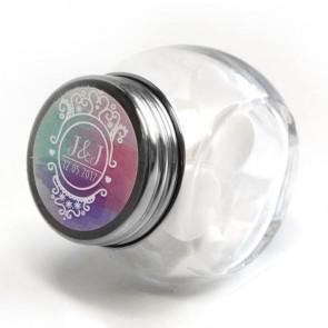 Colourful Splash Candy Jar wedding favour