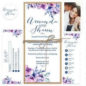 Cosy Purple Wedding Bundle Invitation