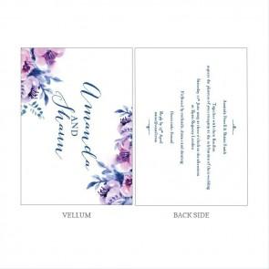 Cosy Purple Vellum Invitation