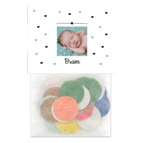 Heart Dots Flowerbags Baby Shower favours