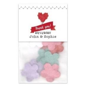 Balloon Flower Bag wedding favours