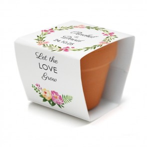 Bohemian Flowers Flower Pot wedding favours