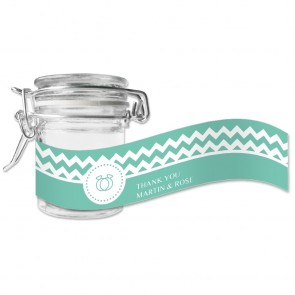 Pastel Chevron Green Weck Jar