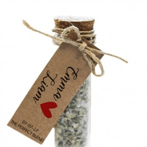Heart Herbal Gift Tube wedding favours