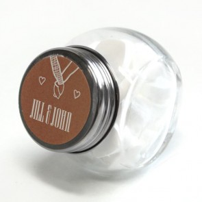 Hold My Hand Candy Jar wedding favour