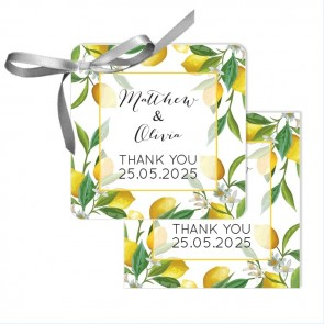 Lemon Wedding Tags