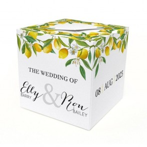 Lemon Out of the Box Wedding Invitation