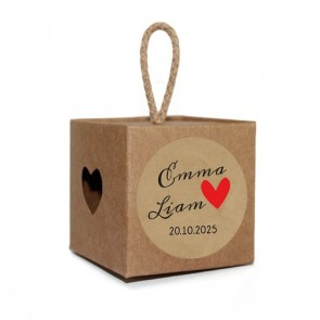 Craft Heart Light Box wedding favour