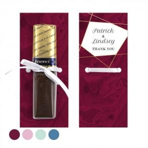 Lines Bordeaux Merci Wedding Chocolate Favour