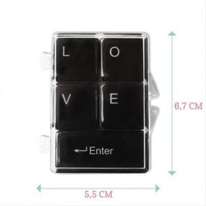 Gold Foil Love Keyboard Magnets