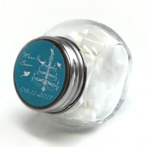 LoveBirds Candy Jar wedding favour