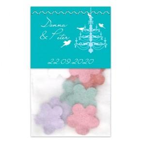 Chalk Flowerbags wedding favours