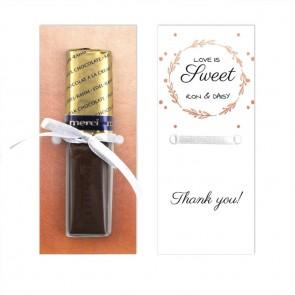 Flower Crown Merci Wedding Chocolate Favour