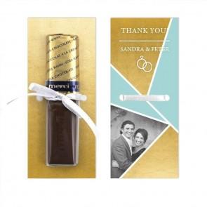Gold Foil Merci Wedding Chocolate Favour