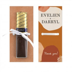 Salted Caramel Merci Wedding Chocolate Favour