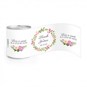 Bohemian Flowers Wedding Nuts wedding favours