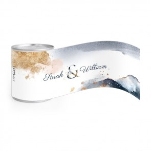 Gold Watercolour Wedding Nuts wedding favours