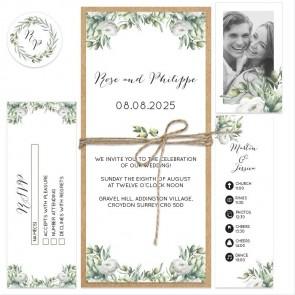 Olive Bundle Wedding Invitations