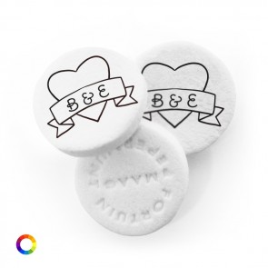 Heart Banner personalised Wedding Mints