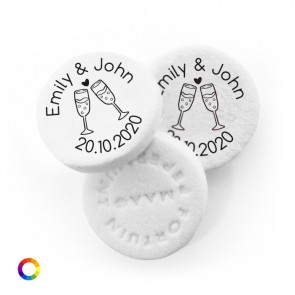 Champagne personalised wedding mints