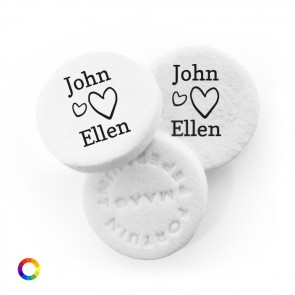 Open Hearts personalised Wedding Mints