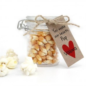 Our Hearts Baby Shower Popcorn Weck Jar