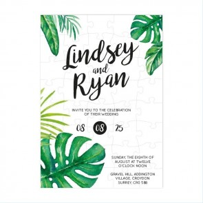 Botanical Puzzle Invitation Wedding