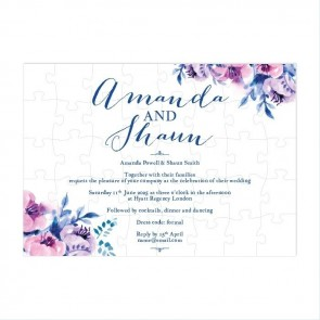 Cosy Purple Puzzle Invitation