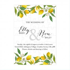 Lemon Puzzle Invitation Wedding
