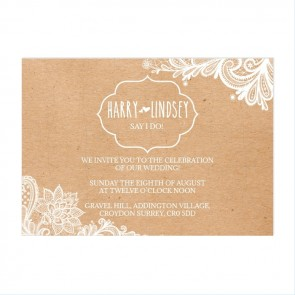 Vintage Lace Puzzel Invitation