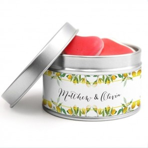 Create Your Own Round Tin wedding favour