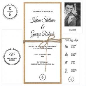 Rustic Branch Wedding Invitation Bundle