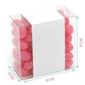 Blue Watercolour Candy Square Favour Box