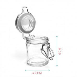 Popping Hearts Popcorn Weck Jar