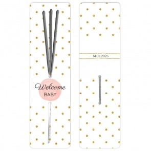 Baby Shower Sparklers Gold & Pink