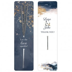 Wedding favour Sparklers Gold Watercolour