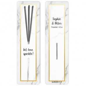 Wedding favour Sparklers Marble & Gold