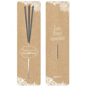 Wedding favour Sparklers Vintage Lace