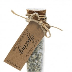 Spicing up Herbal Gift Tubes wedding favours