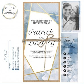 Stormy Lines Bundle Wedding Invitations